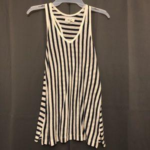 Made well linen striped tank blouse top xs